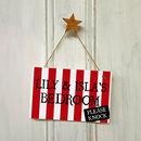 Pirate Door Sign With Stripes