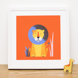 Safari Art Prints: Lion, Giraffe Or Elephant - nursery pictures & prints