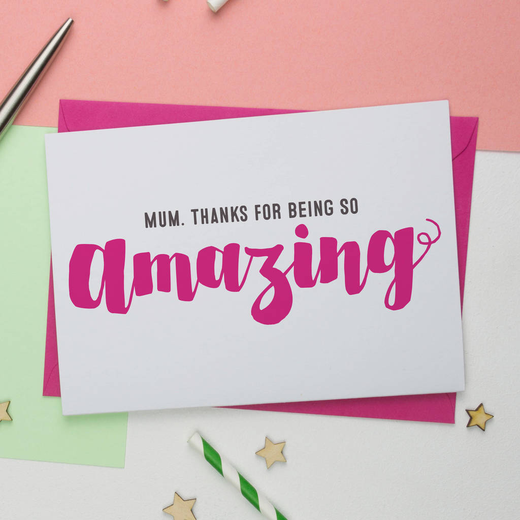 Your Amazing: You're Amazing Mothers Day Card By A Is For Alphabet