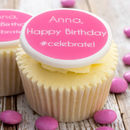 Personalised Birthday #Celebrate Cupcake Toppers