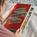 Personalised Kitchen Recipe Organiser Tin