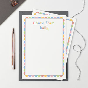 Personalised 'A Note From' Letter Writing Set