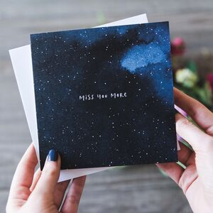 'Miss You More' Thinking Of You Card
