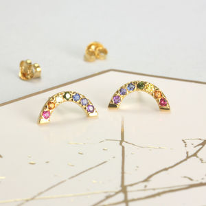 Rainbow Stud Earrings - gifts for her
