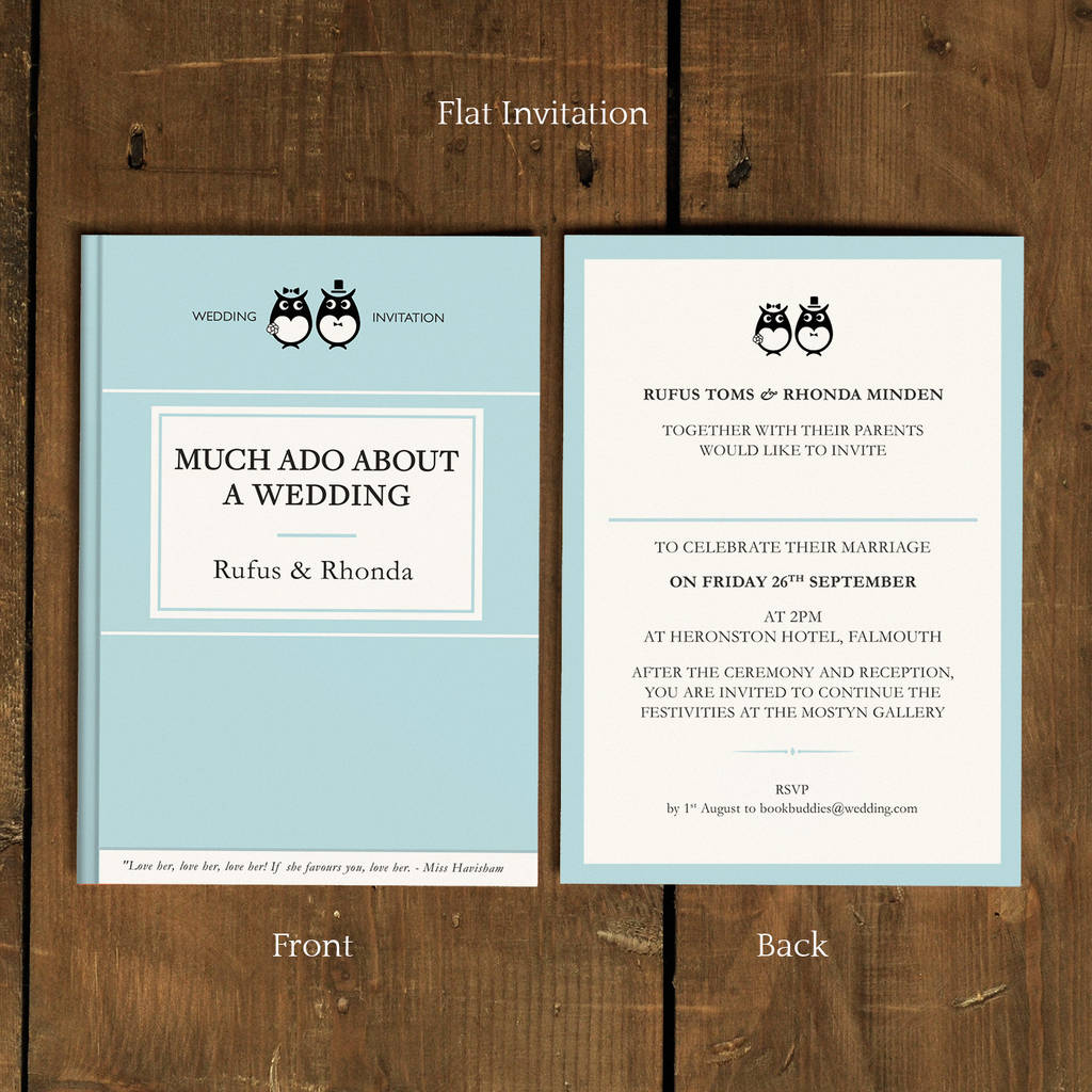 Wedding Invitation Book Style: Classic Book Wedding Invitation By Feel Good Wedding