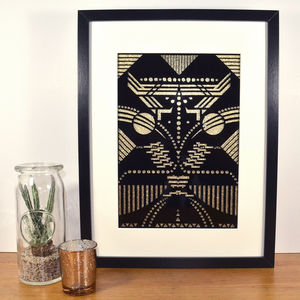 Contemporary Art Deco Inspired Arthropodic Laser Cut - modern & abstract