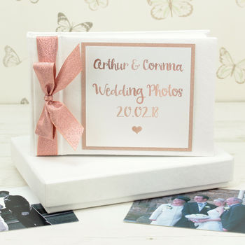 Personalised Rose Gold Wedding Photo Album