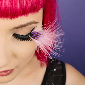 Pink Feather Party Lashes - more