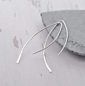 Contemporary Silver Leaf Hoops