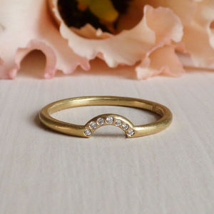 Orla 18ct Fairtrade And Diamond Ethical Wedding Ring - rings