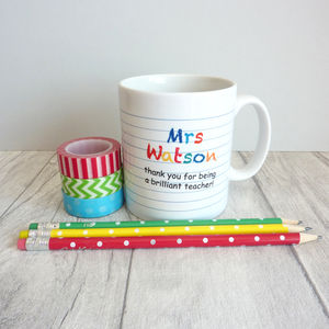 Brilliant Teacher Personalised Mug