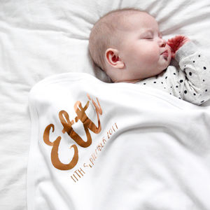 Personalised New Baby Blanket