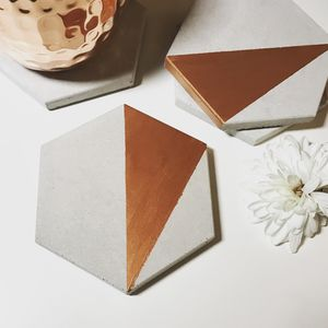 Concrete Hexagon Abstract Coaster