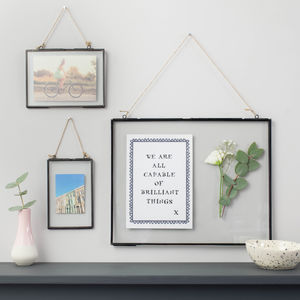 Black Hanging Picture Frame - housewarming gifts