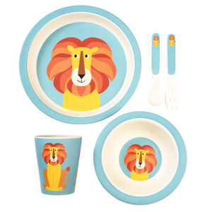 Children's Lion Bamboo Tableware Set