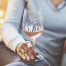 Personalised 'More Wine' Crystal Wine Glass