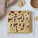 Jam Biscuit Blondies