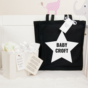 Personalised Baby Shower Gift Star Hospital Bag - more