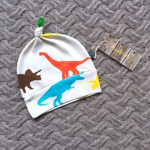 Colourful Dinosaur Knotted Hat - hats, scarves & gloves