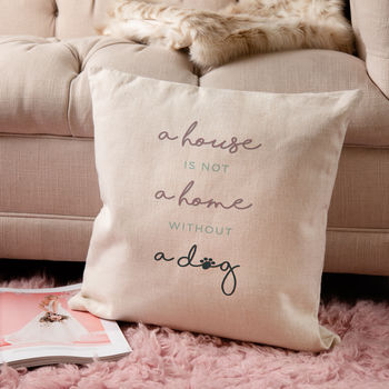 Printed Canvas Cushion Cover For Dog Lovers