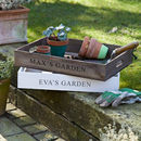 Personalised Wooden Crate Planter Tray