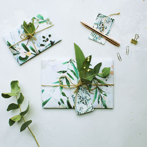 Winter Sprig Eco Friendly Gift Wrap Set - wrapping paper