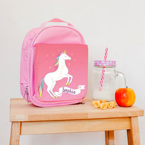 Children's Personalised Magical Unicorn Lunch Bag