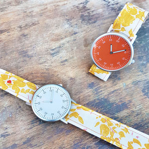 Ladies Orchid Strap Watch