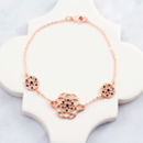 Seed of Life Bracelet - Rose Gold & Jet