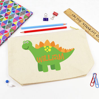 Personalised Dinosaur Pencil Case