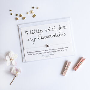A Handmade Little Wish Bracelet Gift For Godmother