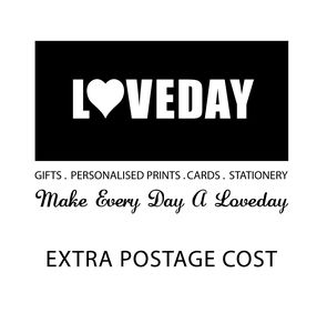 Extra Payment For Postage Five - typography