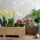 Wildflower Garden Engraved Wooden Planter