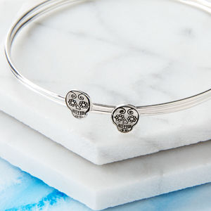 Sugar Skull Stacking Bangle - bracelets & bangles