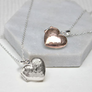 Hidden Message Heart Locket Necklace