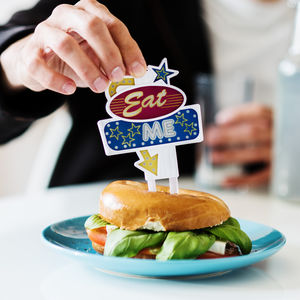 Eat Me Flashing Food Topper - baking