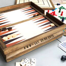 Personalised Wooden Anniversary Game Set