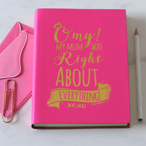 'My Mum Was Right' Mother's Day Leather Notebook