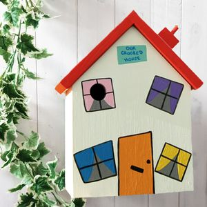 Personalised Crooked House Bird Box