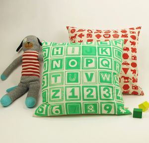 Abc Retro Print Cushion