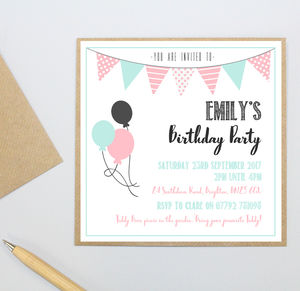 Personalised Child's Party Invitation - baby shower invitations