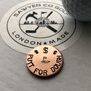 Handmade 'Putt For Dough' Copper Golf Ball Marker