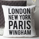 Personalised Location Cushion
