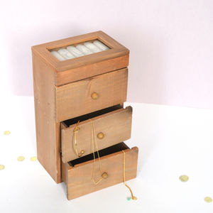 Personalised Tall Wooden Jewellery Box - jewellery storage & trinket boxes