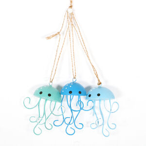 Hanging Metal Jellyfish Coastal Decoration