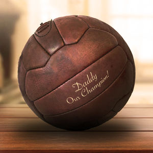 Father's Day Personalised Vintage Leather Soccer Ball