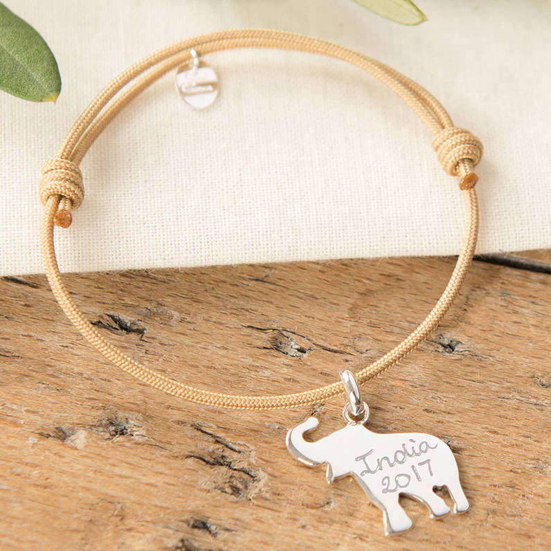 bracelet baby elephant mother