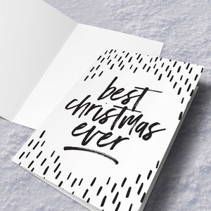 'Best Christmas Ever' Christmas Card - cards & wrap