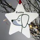 Pet Personalised Monochrome Christmas Decoration