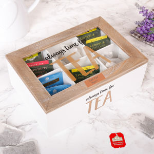 Personalised Always Time For Tea Storage Caddy Gift